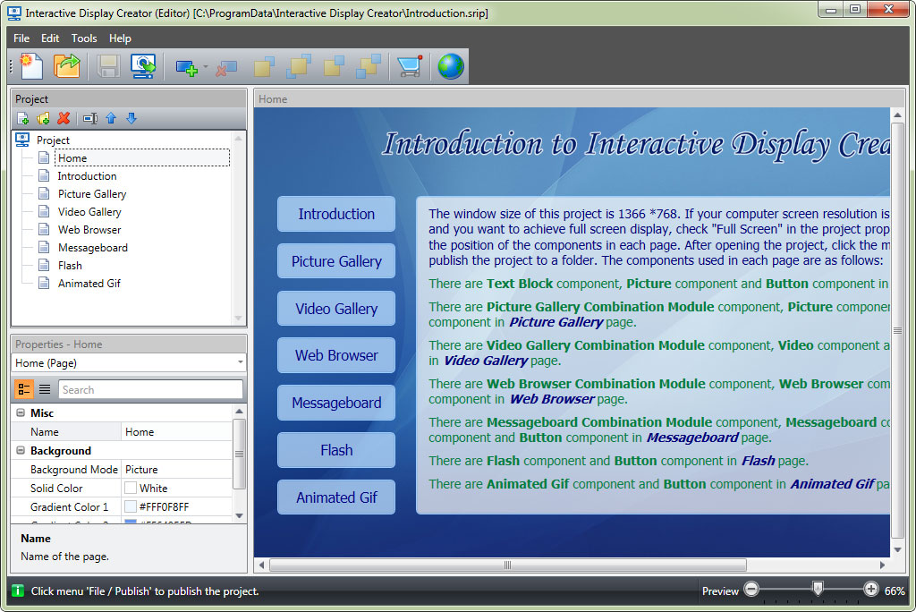 Click to view Interactive Display Creator 2.0.0 screenshot